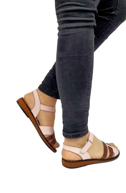 Sandale Dama Piele Naturala Nude Ielna D02713 4