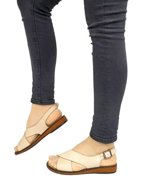Sandale Dama Piele Naturala Bej Orama D02714 1