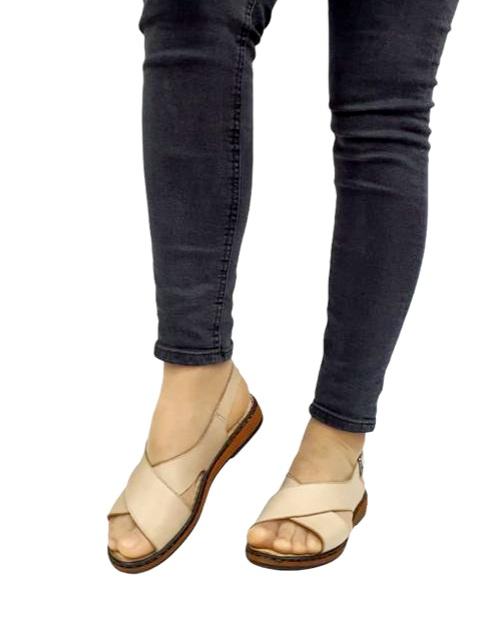Sandale Dama Piele Naturala Bej Orama D02714 2
