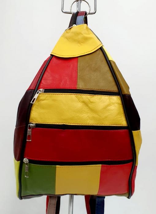 Rucsac Dama Piele Naturala Multicolora Seana G00844 [0]