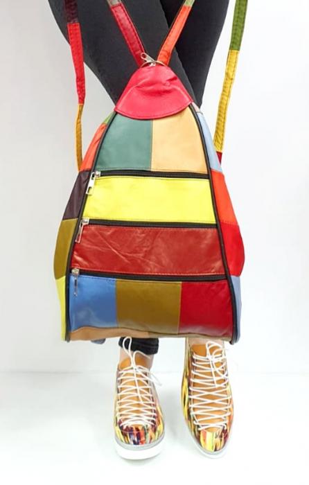 Rucsac Dama Piele Naturala Multicolora Seana G00846 [7]