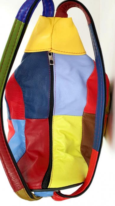 Rucsac Dama Piele Naturala Multicolora Seana G00847 [4]