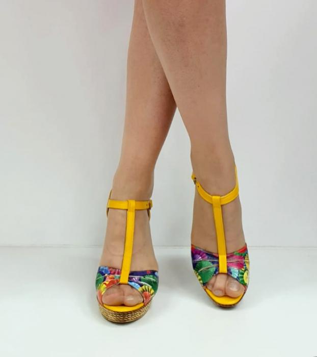 Sandale Dama Piele Naturala Galbeni Ami D02715 [2]