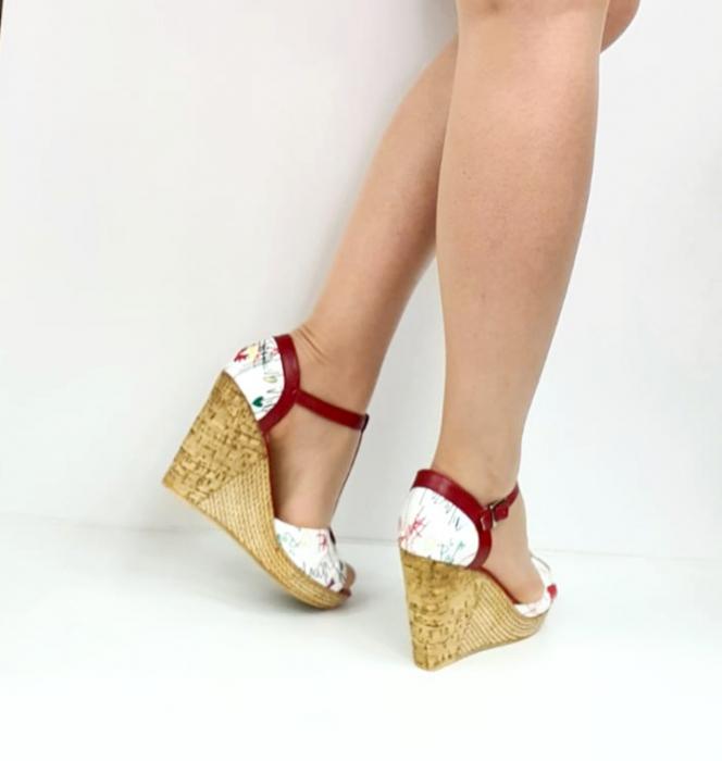 Sandale Dama Piele Naturala Rosii Ami D02716 [4]