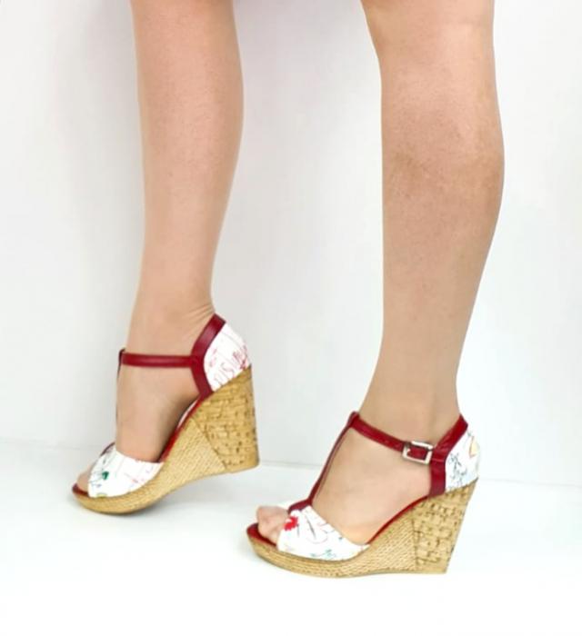 Sandale Dama Piele Naturala Rosii Ami D02716 [1]