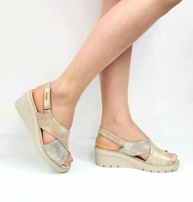 Sandale Dama Piele Naturala Suave Bej Nina D02718 [0]