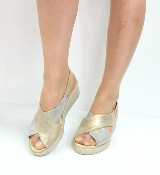 Sandale Dama Piele Naturala Suave Bej Nina D02718 [3]