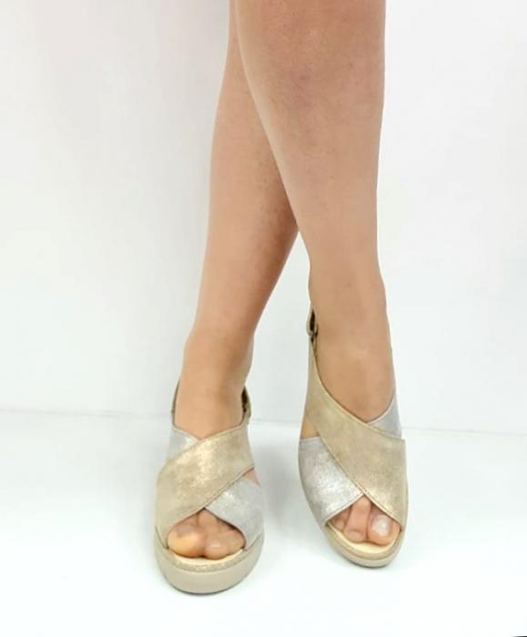 Sandale Dama Piele Naturala Suave Bej Nina D02718 [2]