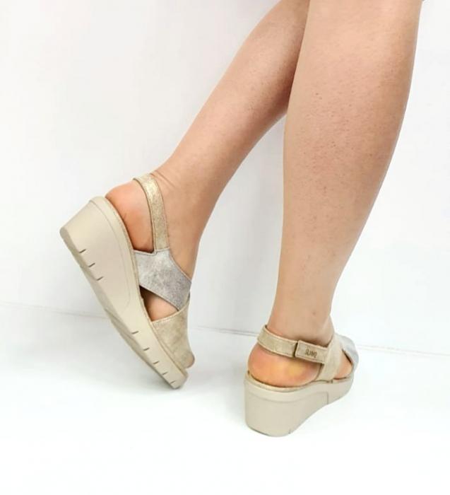 Sandale Dama Piele Naturala Suave Bej Nina D02718 [4]
