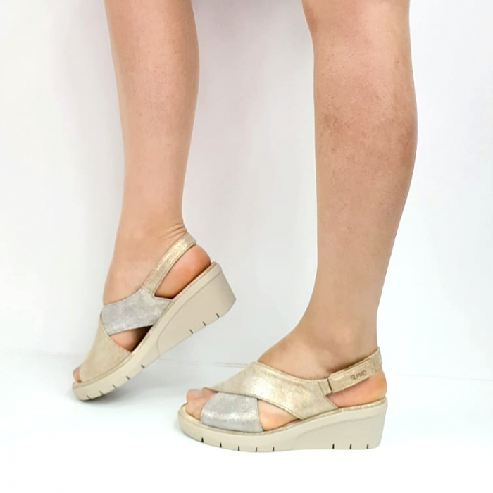 Sandale Dama Piele Naturala Suave Bej Nina D02718 [1]