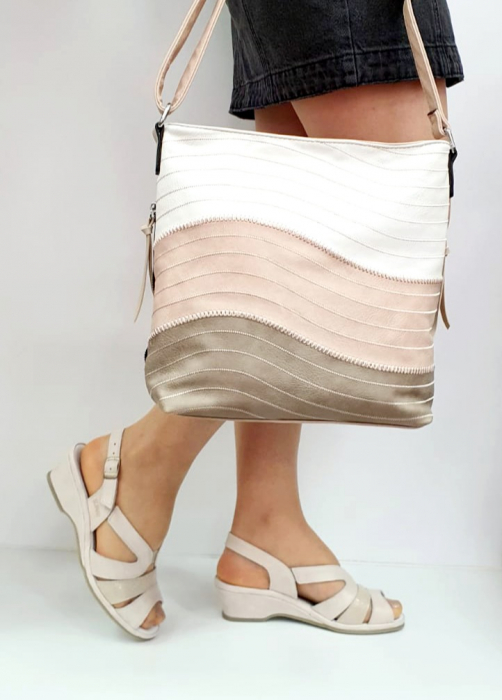 Sandale Dama Piele Naturala Suave Bej Damaris D02720 [5]