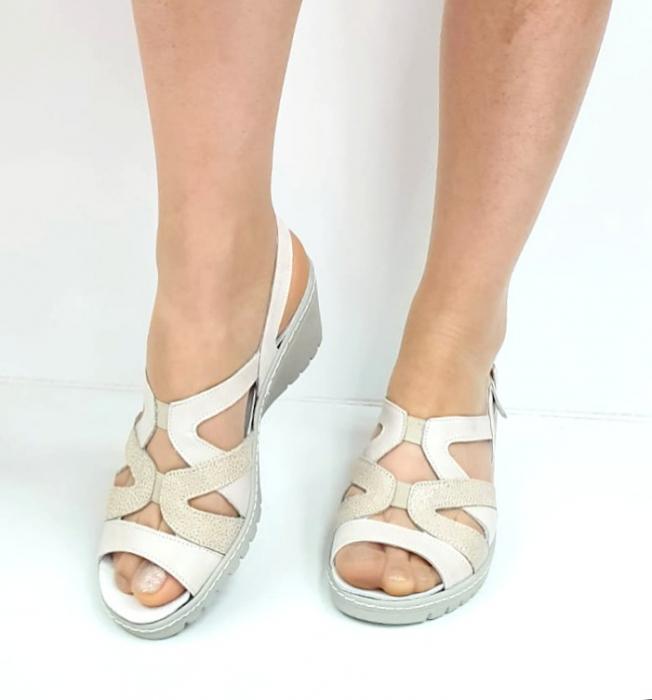 Sandale Dama Piele Naturala Suave Bej Niculina D02721 [3]
