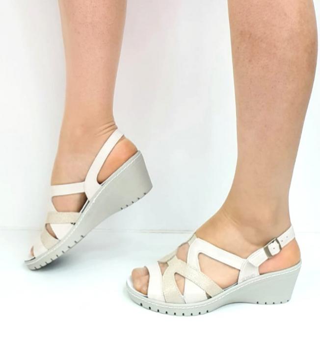 Sandale Dama Piele Naturala Suave Bej Niculina D02721 [1]