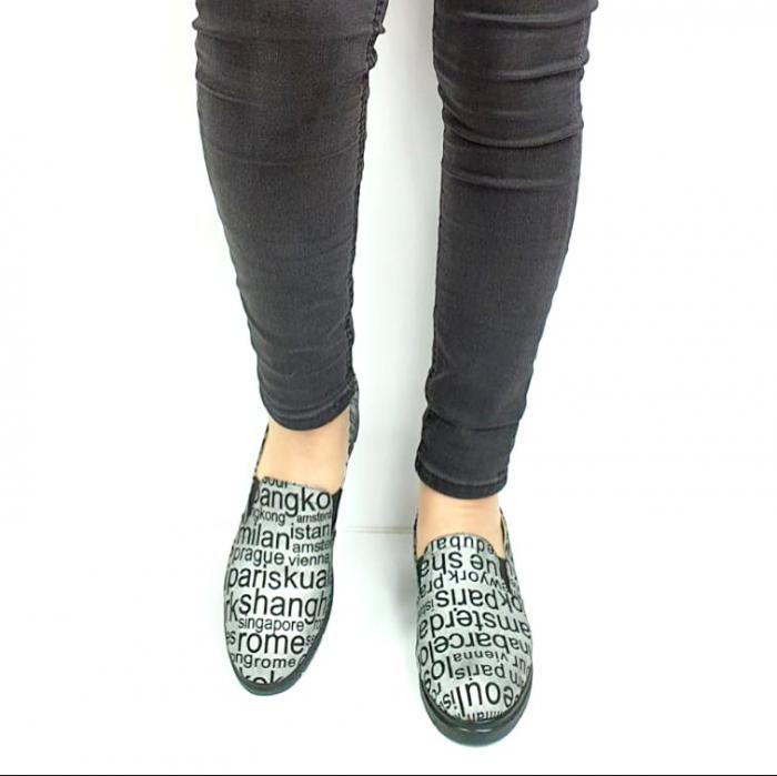 Pantofi Casual Piele Naturala Argintii Deborah D02726 [4]