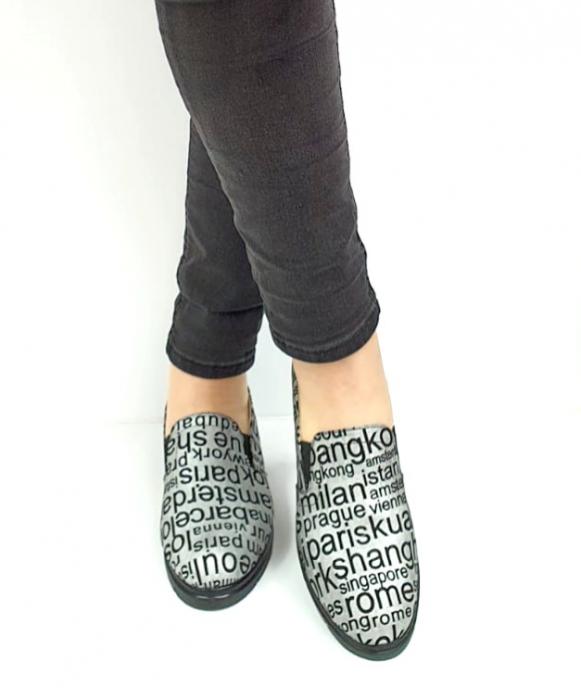 Pantofi Casual Piele Naturala Argintii Deborah D02726 [2]