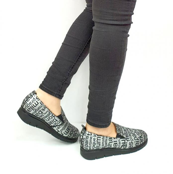 Pantofi Casual Piele Naturala Argintii Deborah D02726 [3]
