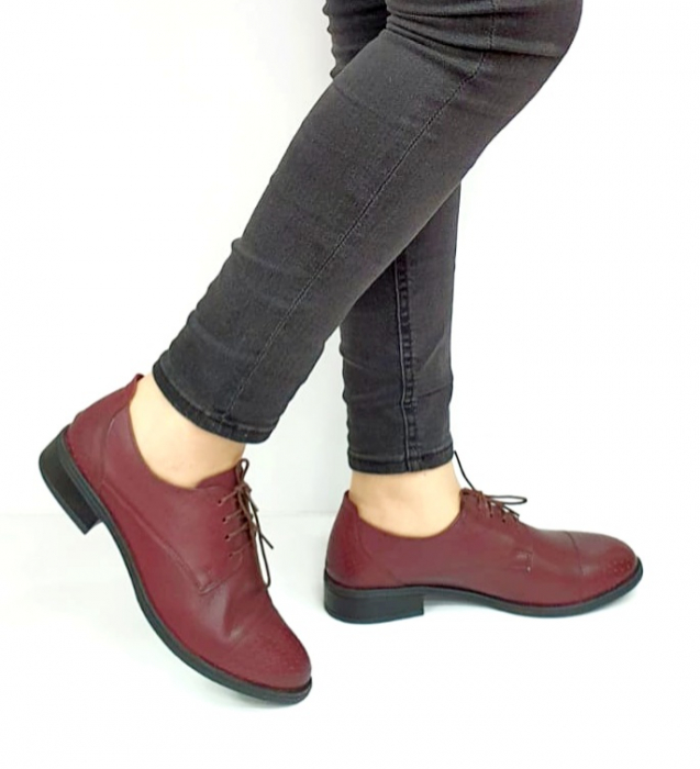 Pantofi Casual Piele Naturala Grena Edena D02728 [0]
