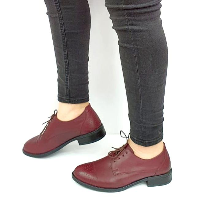 Pantofi Casual Piele Naturala Grena Edena D02728 [1]