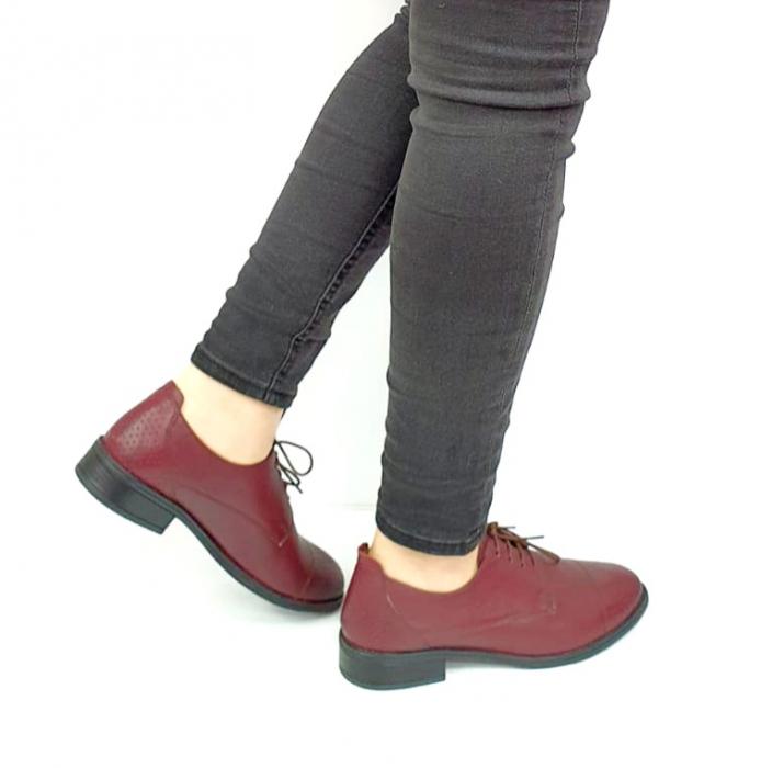 Pantofi Casual Piele Naturala Grena Edena D02728 [3]
