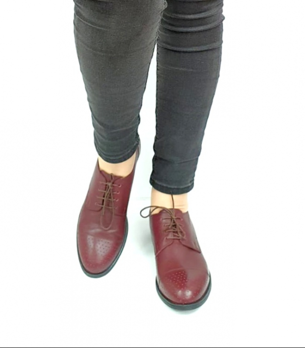 Pantofi Casual Piele Naturala Grena Edena D02728 [4]