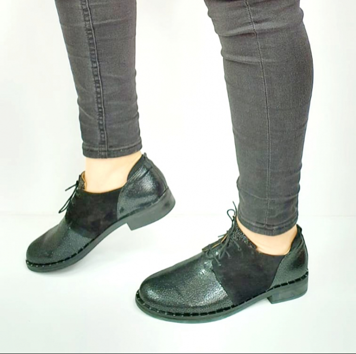 Pantofi Casual Piele Naturala Negri Adeline D02729 [1]