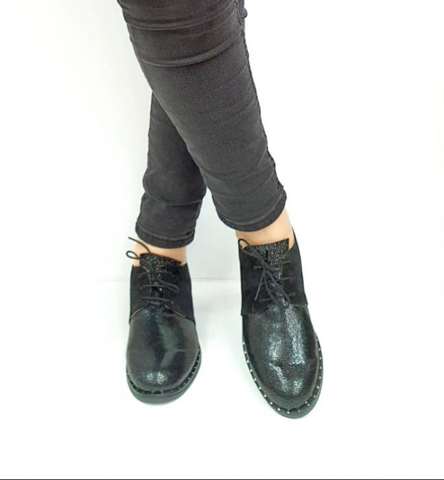 Pantofi Casual Piele Naturala Negri Adeline D02729 [2]