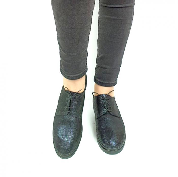 Pantofi Casual Piele Naturala Bleumarin Agathe D02730 [4]