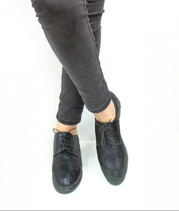 Pantofi Casual Piele Naturala Bleumarin Agathe D02730 [2]