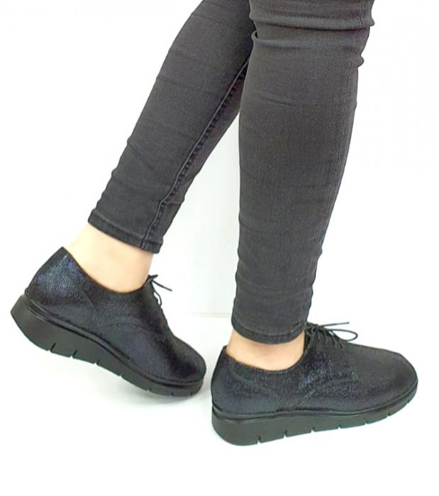 Pantofi Casual Piele Naturala Bleumarin Agathe D02730 [3]