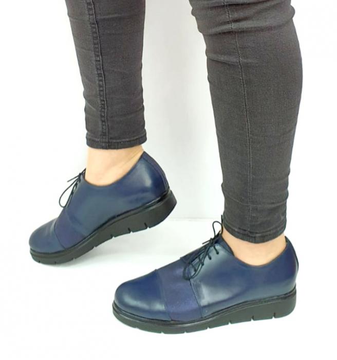 Pantofi Casual Piele Naturala Bleumarin Albertine D02731 [1]