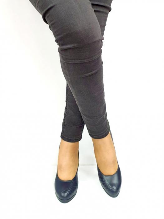 Pantofi cu toc Piele Naturala Bleumarin Guban Jesse D02735 [3]