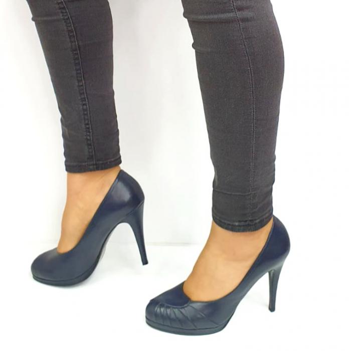 Pantofi cu toc Piele Naturala Bleumarin Guban Jesse D02735 [1]