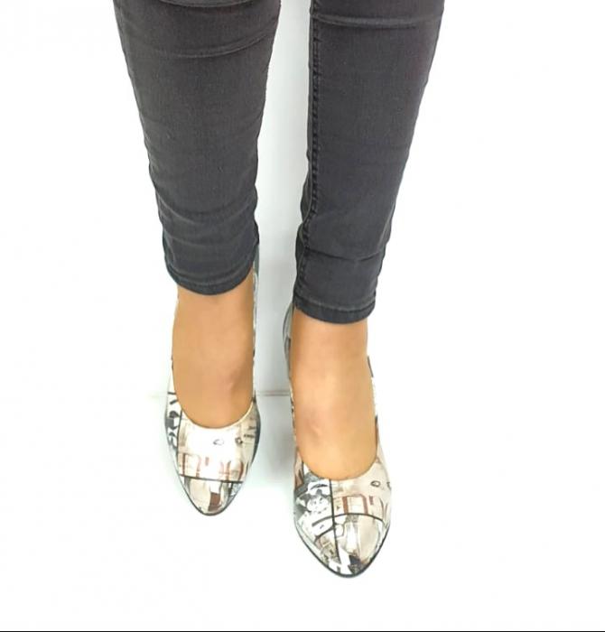 Pantofi cu toc Piele Naturala Multicolor Guban Esther D02738 [4]