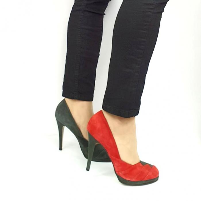 Pantofi cu toc Piele Naturala Rosi Guban Ermiona D02740 [0]