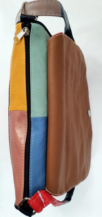Geanta Dama Piele Naturala Multicolora Ada G00861 [4]