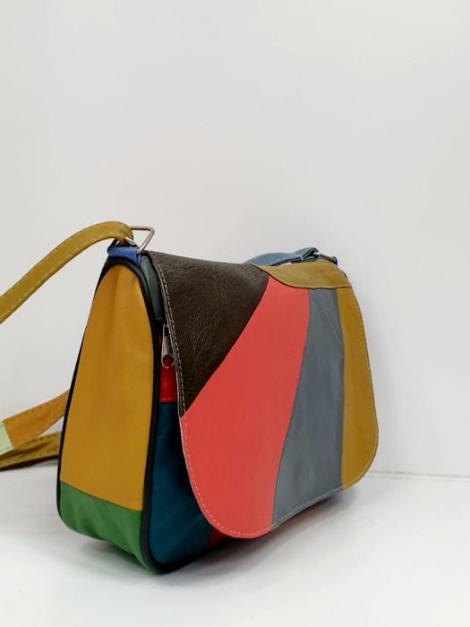 Geanta Dama Piele Naturala Multicolora Ada G00863 [1]