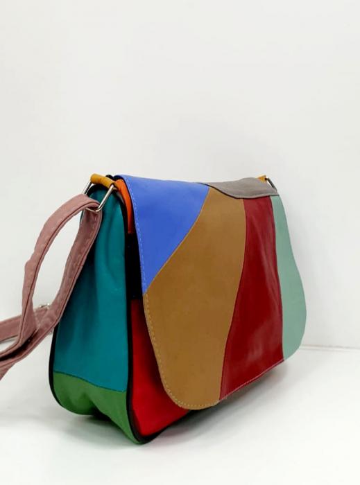 Geanta Dama Piele Naturala Multicolora Ada G00868 [1]