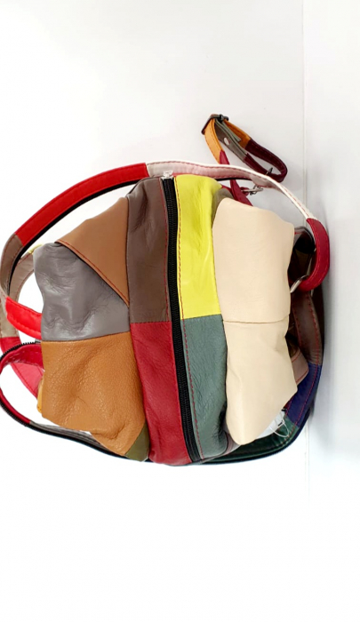 Rucsac Dama Piele Naturala Multicolor Clarisa G00908 [4]