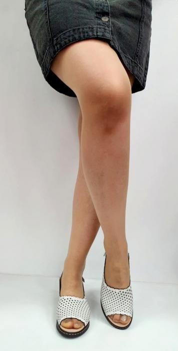Sandale Dama Piele Naturala Albe Rachel D02743 [1]
