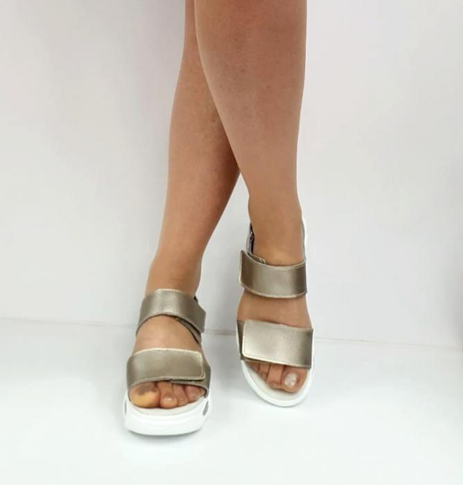Sandale Dama Piele Naturala Aurii Ruth D02744 [3]