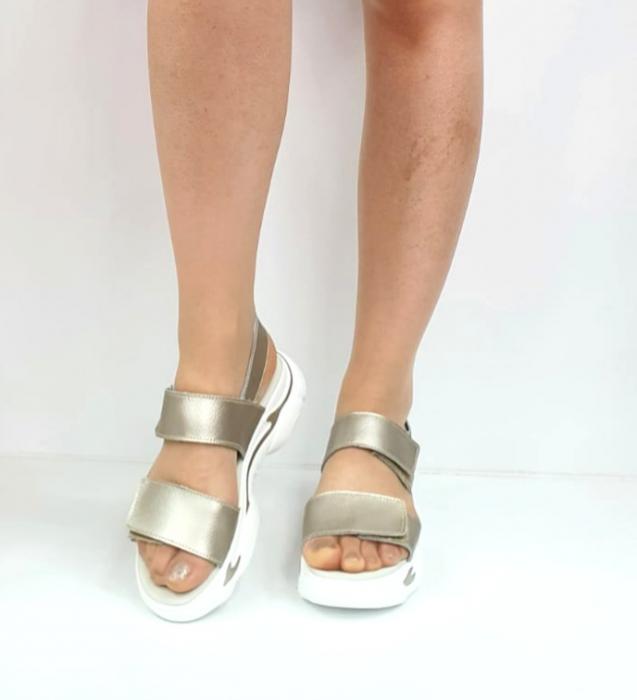 Sandale Dama Piele Naturala Aurii Ruth D02744 [1]
