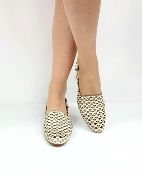 Sandale Dama Piele Naturala Prego Crem Rhoda D02745 [7]