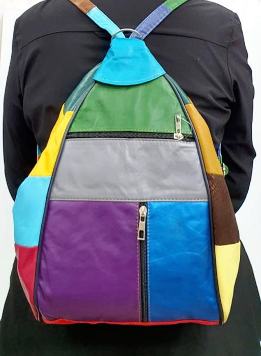 Rucsac Dama Piele Naturala Multicolor Seana G00920 [6]