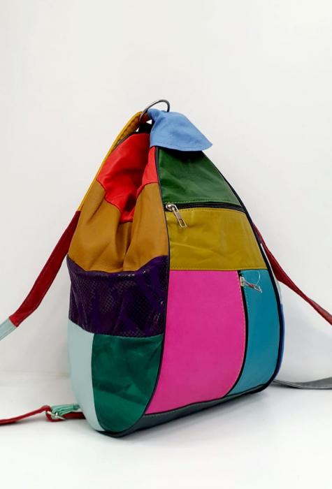 Rucsac Dama Piele Naturala Multicolor Seana G00923 [1]