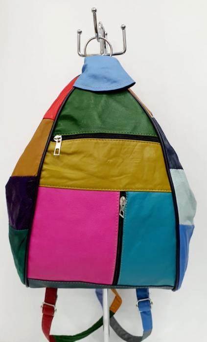 Rucsac Dama Piele Naturala Multicolor Seana G00923 [0]