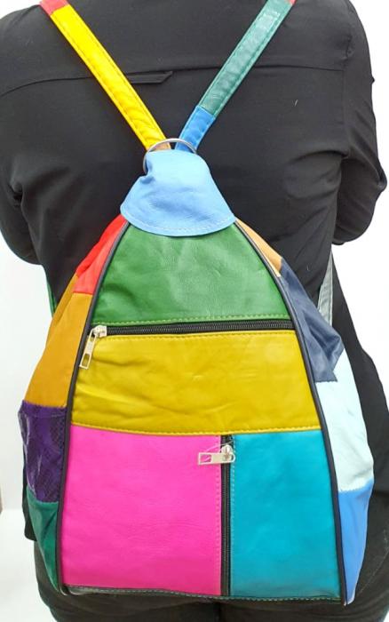 Rucsac Dama Piele Naturala Multicolor Seana G00923 [6]