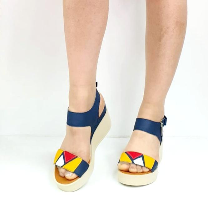 Sandale Dama Piele Naturala Bleumarin Prego Barbara D02746 [1]