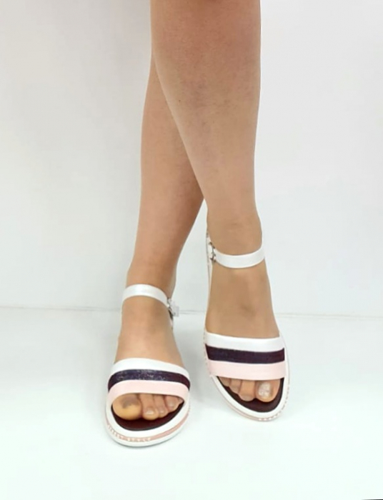 Sandale Dama Piele Naturala Alb Moda Prosper Benjamine D02748 [2]