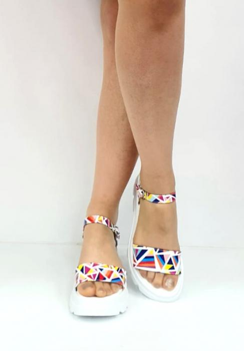 Sandale Dama Piele Naturala Alb Moda Prosper Berthe D02750 [2]