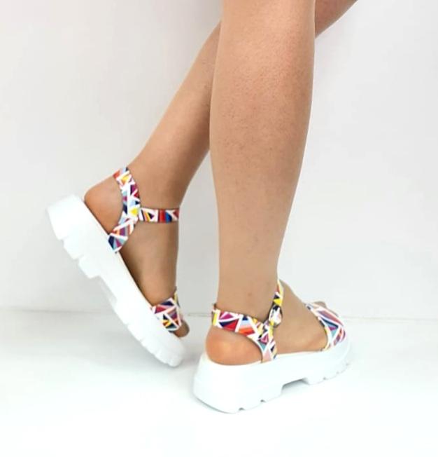 Sandale Dama Piele Naturala Alb Moda Prosper Berthe D02750 [3]